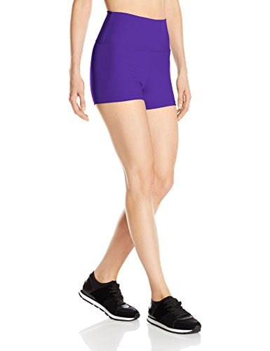Capezio Womens Team Basic High Waisted Short, Purple, X-Small