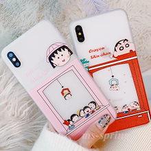 ポップクレヨンしんちゃん ちびまる子ちゃん ソフトケースiPhoneXrケースiPhoneXs MaxケースiPhone7ケースiphone8ケースIPHONEケースiPhoneXケース6s