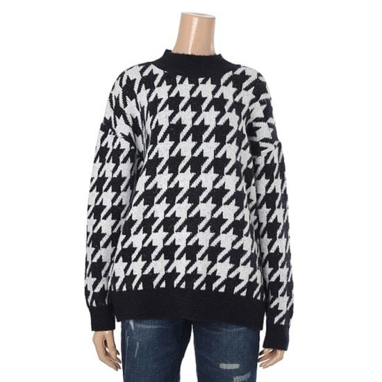 [のだ]女性の春パターンニット(YWE105) ニット/セーター/パターンニット/韓国ファッション