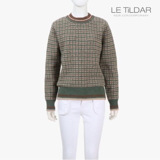 ルティルダウォムチェク・ニット ニット/セーター/ニット/韓国ファッション
