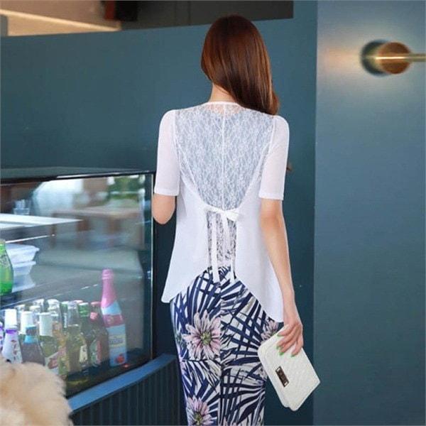 スタイルオンミボディーマッチレース配色シフォンカディゴンnew 女性ニット/カーディガン/韓国ファッション