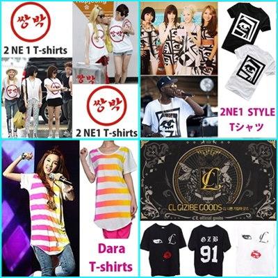 2NE1 パーカー【送料無料】サンダラ·パク パク·ボム  Tシャツ/2NE1/Sandara Park/Park Bom/半袖 Tシャツ/2ne1ファッション