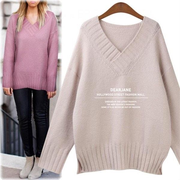 ディアジェーンブイネクルーズフィットニットM4101 new 女性ニット/ Vネックニット/韓国ファッション