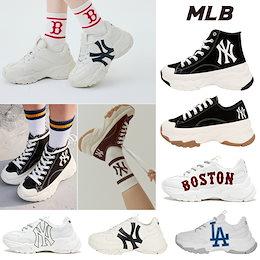 [MLB Korea] CHUNKY ニューヨーク·ヤンキース / エムエルビージーンズ スニーカー スニーカー 男女共用 / 韓国人気 SNS人気