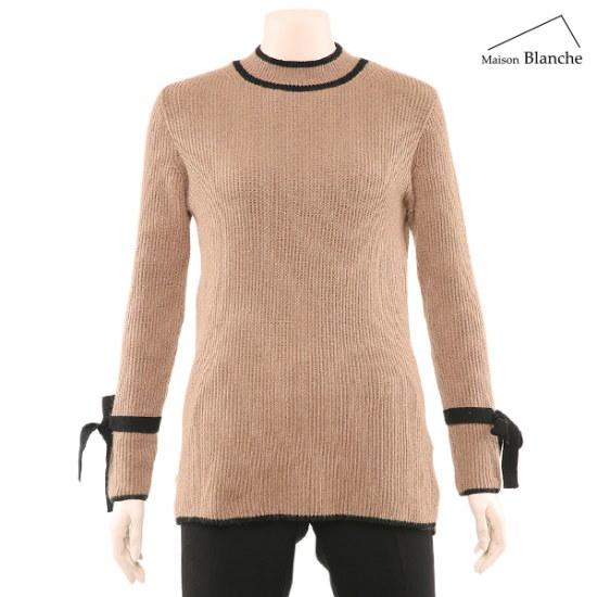 メゾンブルランスィ小売リボン配色ニットM174TSWB14 ニット/セーター/韓国ファッション