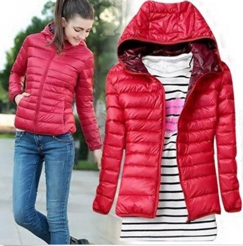 冬の女性のスリムショートウェットダウンジャケットアウターウェアウォームジャケットレディダウンパーカーコート