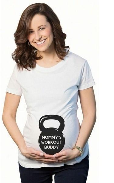 1100かわいいPregger Tシャツ、産科トップ、妊娠発表シャツ機能を100%新しいファッション良いです