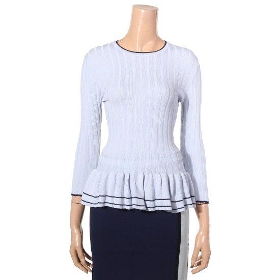 提示、ニューヨーク9部フリルゴルジニートJ715NSKO41401 ニット/セーター/パターンニット/韓国ファッション