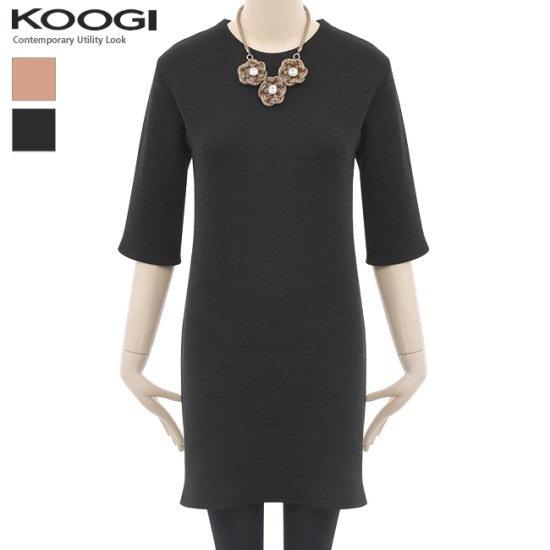 釘宮パクシベーシックワンピースKL1OP114A 綿ワンピース/ 韓国ファッション