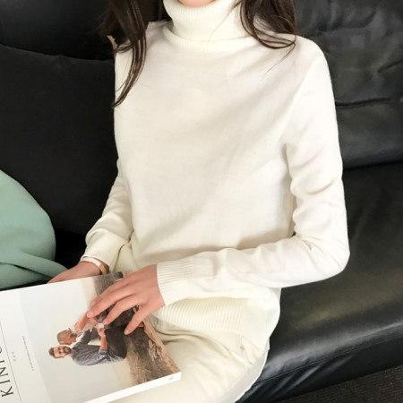 基本に忠実なポーラニットkorean fashion style