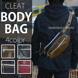 ボディバッグ ショルダーバッグ CLEAT クリート 8081 メンズ レディース (mk-8081) 斜めがけ バッグ ななめ掛け ワンショルダー ウエストバッグ ボディー バッグ ボディ・バッグ アウトドア 普段使いにも◎