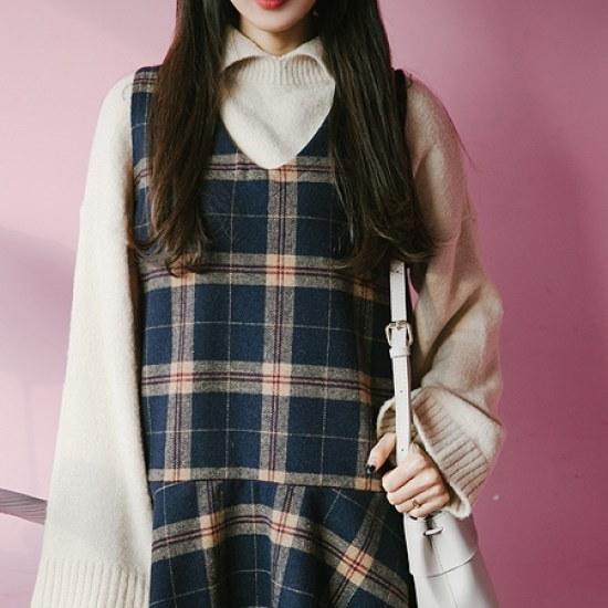 素敵カラネクKNIT ニット/セーター/タートルネック/ポーラーニット/韓国ファッション