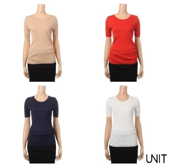 ユニットUネック5部UFB2KR10N ニット/セーター/韓国ファッション