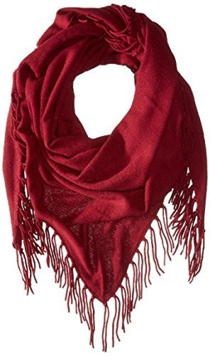 Design History Womens Cashmere Scarf, Barolo, One Size