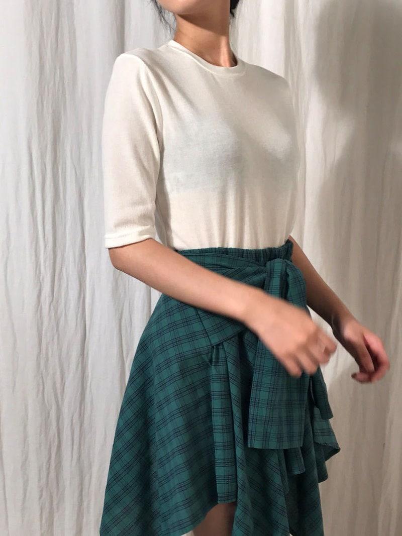フラッター重ね着デイリーニットkorea fashion style