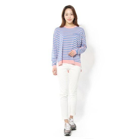 ルシャプLeShop自首ポイント・ストライプニートLH3KP106 スプライトニット/ニット/セーター/韓国ファッション...