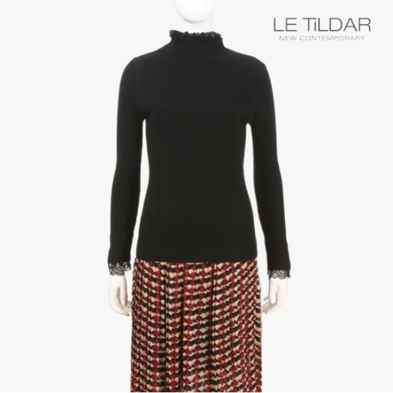ルティルダレースニット ニット/セーター/タートルネック/ポーラーニット/韓国ファッション