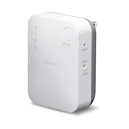 BUFFALO WiFi 無線LAN 中継機 WEX-733DHP/N 11ac 433+300Mbps コンセント直挿しモデル 簡易パッケージ【iPhoneX/iPhoneXSシリーズ