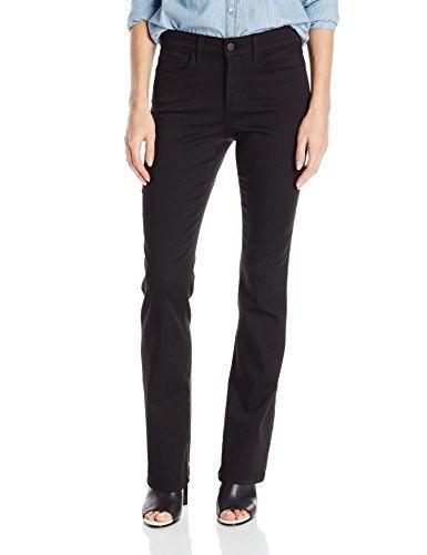 NYDJ Womens Billie Mini Bootcut Jeans, Black, 10