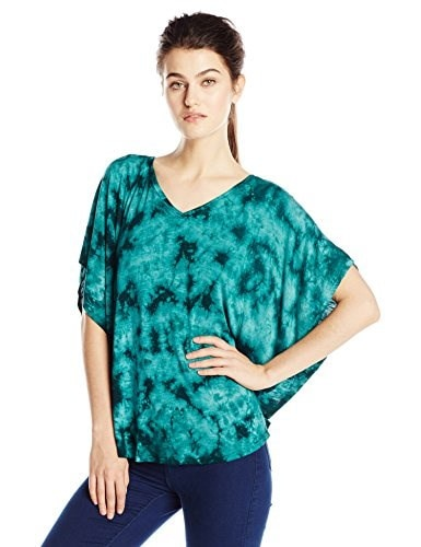 Miraclebody By Miracle Suit Womens Lisa Flutter Sleeve Top, Emerald, Medium