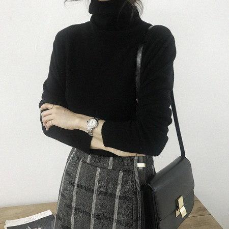 エブリカシミヤウールポーラニットKorean fashion style