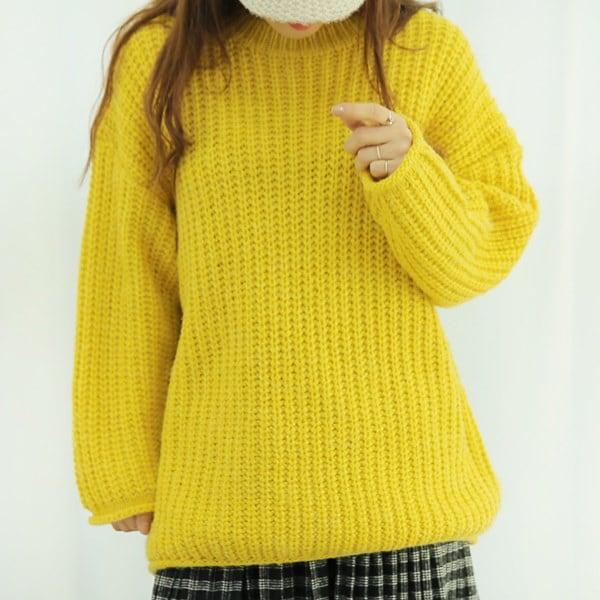 【海外直送】ラウンド編みニット フリーサイズ 韓国ファッション レディースファッション