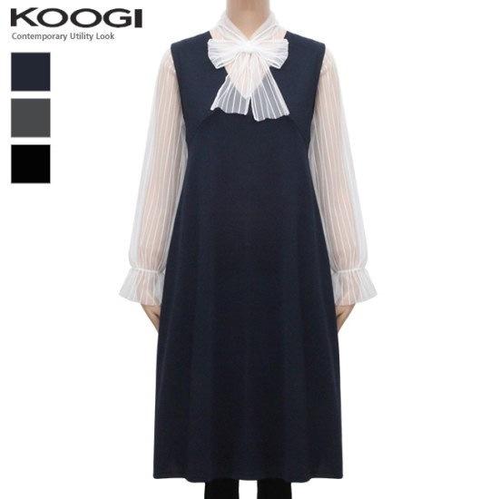 釘宮ブイネク、袖なしのワンピースKL1OP117A 綿ワンピース/ 韓国ファッション