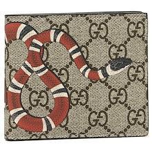 グッチ 財布 GUCCI 451268 K551N 8666 GUCCI BESTIARY M GGスプリーム スネーク 蛇 メンズ 二つ折り財布 B.EB/N.MA/N.MA.PI.N.