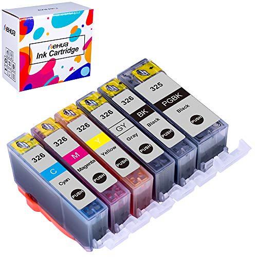 Hehua 互換 インクカートリッジ キャノン BCI-326 BCI-325/6mp MG6230 インクカートリッジ MG6130 インク 対応機種: キャノン PIXUS MG6130 MG6