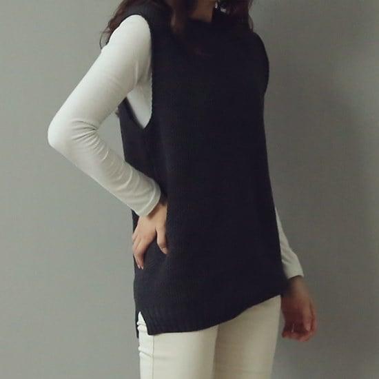ビナインホウェン・ニットベスト ベセチュウ / ニット・ベスト/ 韓国ファッション