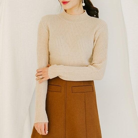[きれい]スウィートエイトの段ボールKNIT ニット/セーター/タートルネック/ポーラーニット/韓国ファッション