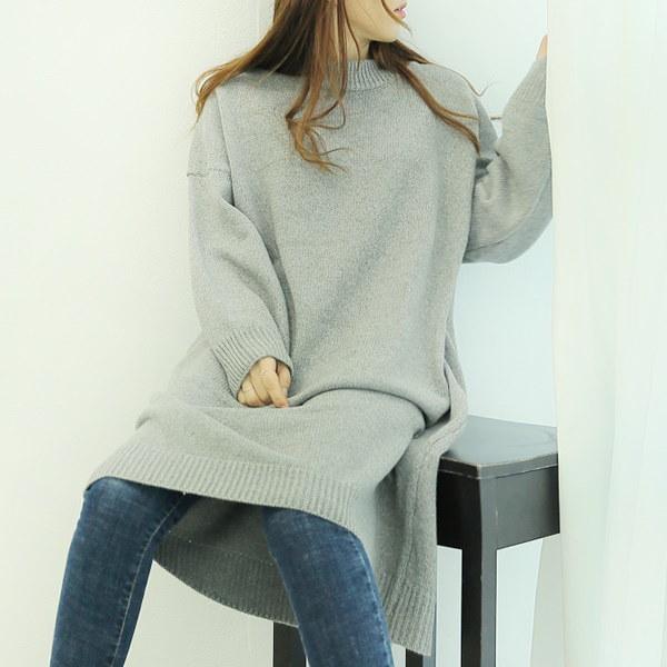 【海外直送】ワイドロングニット フリーサイズ 韓国ファッション レディースファッション