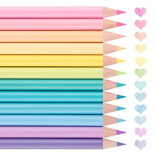 色鉛筆 12色 水彩 可愛い パステルカラー アート鉛筆 大人の塗り絵12色