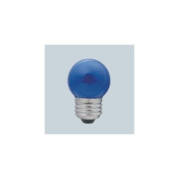 ELPA カラー寸丸球 7W 口金E26 ブルー G-13H-BL(ELPA)