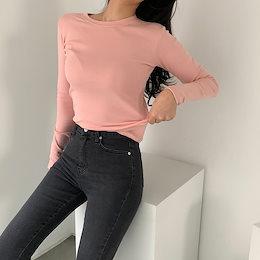 🔥1+1🔥 ✨DRESSCAFE✨[韓国ファッション] ♥ Limited item!♥ (12color) デイリーもち長袖ティーシャツ