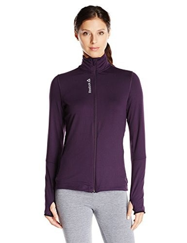 Reebok Womens One Series Track Jacket, Portrait Purple, Large