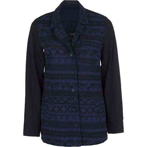 Hurley Military Long Jacket - Womens Midnight Navy Shapes, M