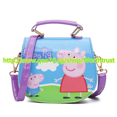 子供たちバックパックトロリーバッグ Cute Mini Bag Children Cartoon Pig Handbag For Girl PU Waterproof Should Bag Kids