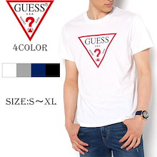 GUESS(ゲス) ロゴ プリント 半袖 Tシャツ 男女兼用 真夏の主役 サーフ