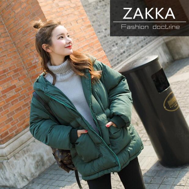 【送料無料】人気 新型 ★★ZAKKA★★ 韓国ファッション レディース服/ダウンコート/ショートコート/韓国 コート/コットン/ジャケット