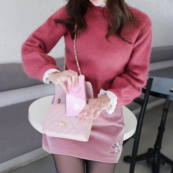 フィオナプレーンアンゴラknitm5508ニート ニット/セーター/ニット/韓国ファッション