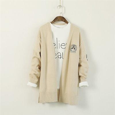 レディースカーディガン ファッション ケープ 薄柄 セーター きつくない 刺繍 長袖 ニットソー レディースカーディガン