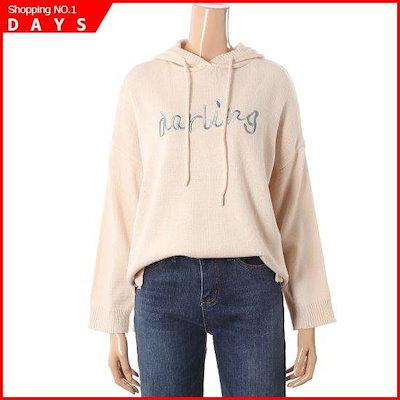 [レコブ(女性衣類)]ダーリングフードニットLW3192KN511X / ニット/セーター/ニット/韓国ファッション