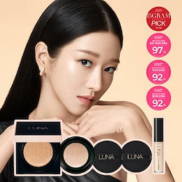 [LUNA]LONG LASTING CONCEAL-WEAR CUSHION SPF50+PA++++★限定企画商品(REFILL+PUFF 2ea+mini concealer)/cellcure