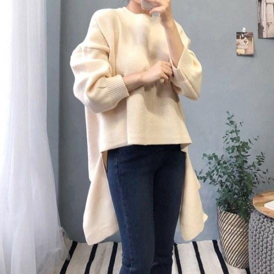 オス行き来するようにオスアンバランスボックス・ニット ニット/セーター/ニット/韓国ファッション