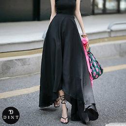 「DINT」 ★送料無料★SK1902♥アンバランス·マキシ·スカート♥セレブ系オフィススタイル♥韓国ファッションブランドDINTのオシャレなオフィススタイル提案!