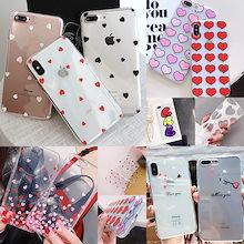 love-heart 韓国愛心透明ソフトケース iphone7ケース iphone6 ケース iphone8ケース iphoneXrケース iphoneX ケース iphoneXs Maxケース