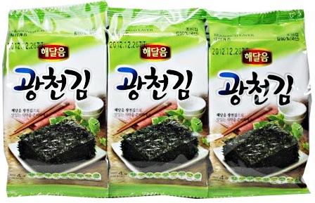 *韓サイ*韓国のり★光天 味付ん弁当のり 8切8枚3袋入り