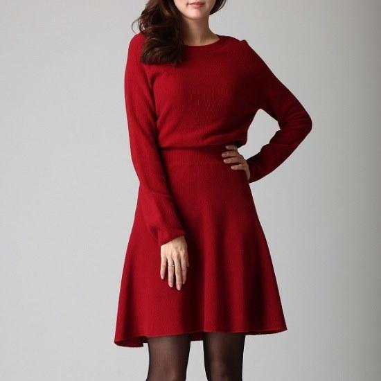 ボブ衣類腰バンディングニット・ワンピース71154 50802 ロングニット/ルーズフィット/セーター/韓国ファッション
