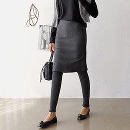 【ANDSTYLE】韓国ファッション/5分丈スカート付きレギンス/楽ちんコーデ完成 スカート付きレギンス_244013